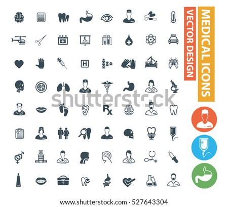 Medical icon set,clean vector
