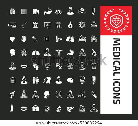 Medical icon set,clean vector