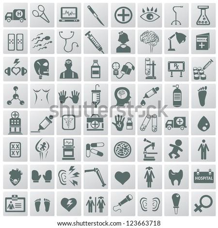 Medical icon set,Vector