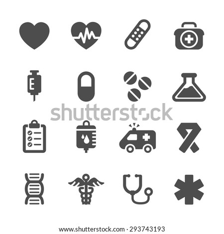 Shutterstock medical icon set, vector eps10.