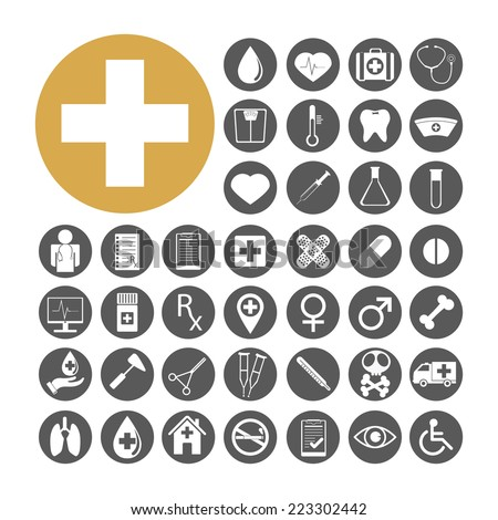 Medical Icon set vector illustration.