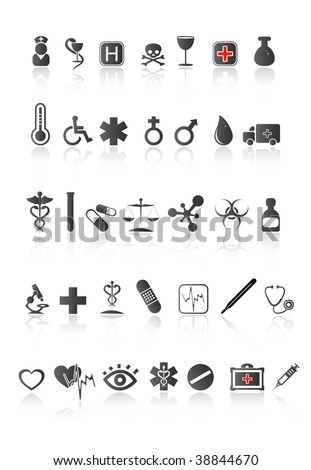 medical icon set. Vector illustration