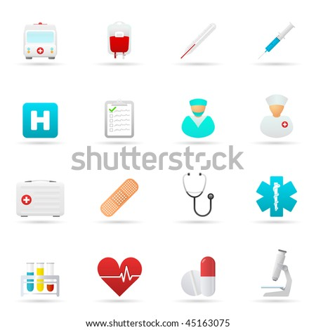 Medical Icon Set. Vector illustration.