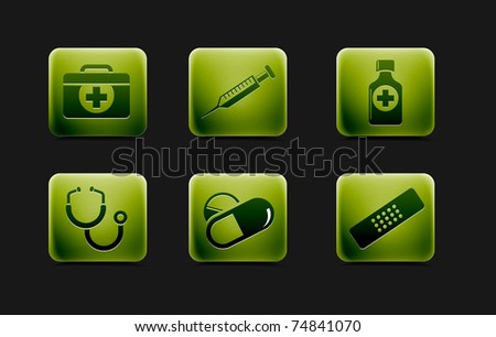Medical icons and symbols vector set.