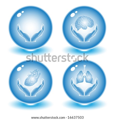 Medical icons. Blue set. Simply change.Vector illustration.