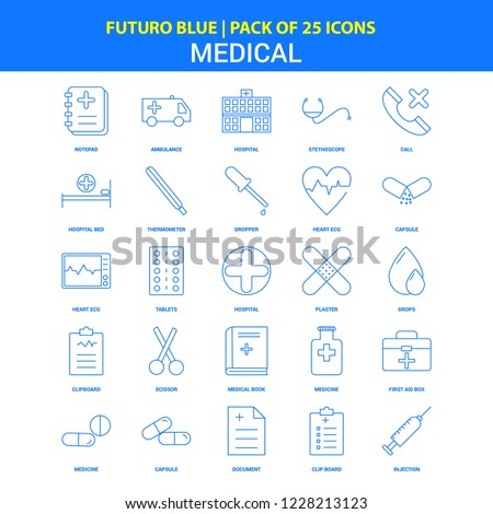 Medical Icons - Futuro Blue 25 Icon pack
