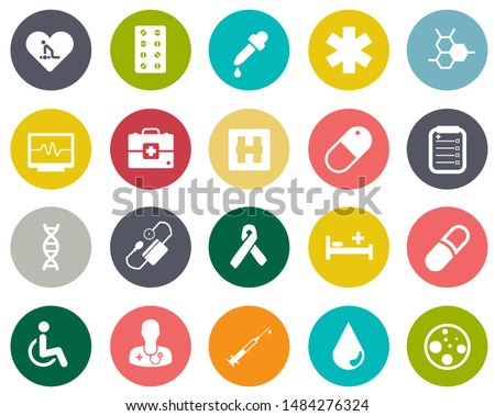 medical Icons, health care icons, pharmacy sign, first aid symbol