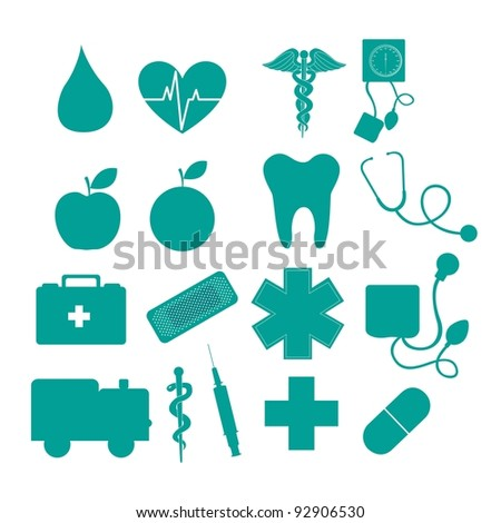 medical icons isolated over white background. vector illustration