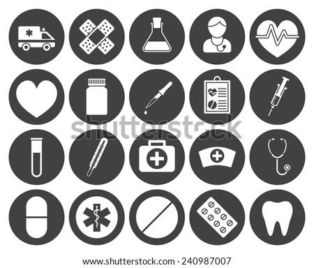 Medical icons (modern flat design)