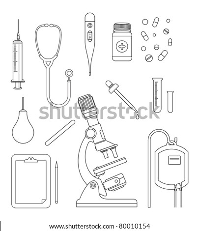 medical icons outline