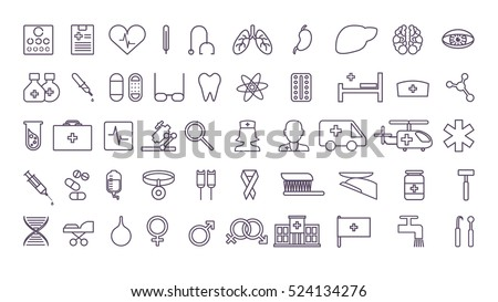 Nurse Line Icons Download Free Vector Art Stock Graphics Images