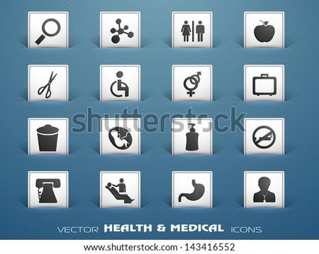 Medical icons set . EPS 10 #143416552