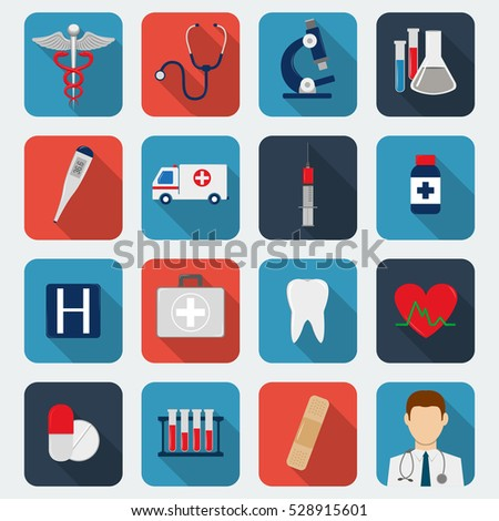 Medical icons set. Healthcare icons. Vector illustration