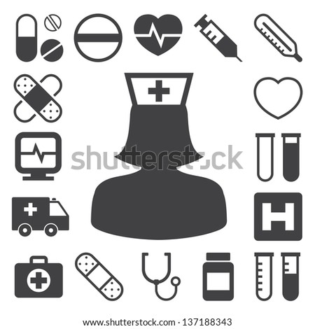 Medical icons set Illustration eps 10