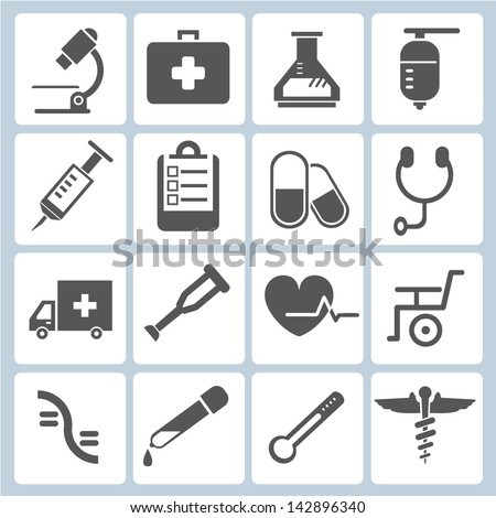 medical icons set, vector