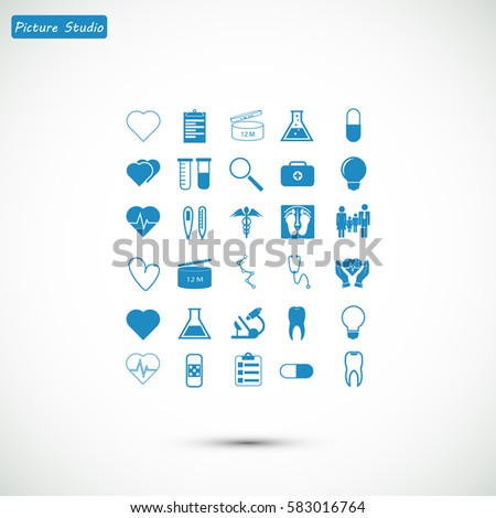 Medical icons set, vector best flat icon, EPS
