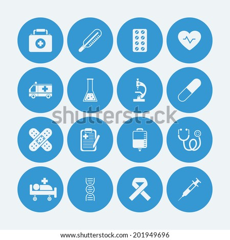 Medical icons set. Vector EPS10