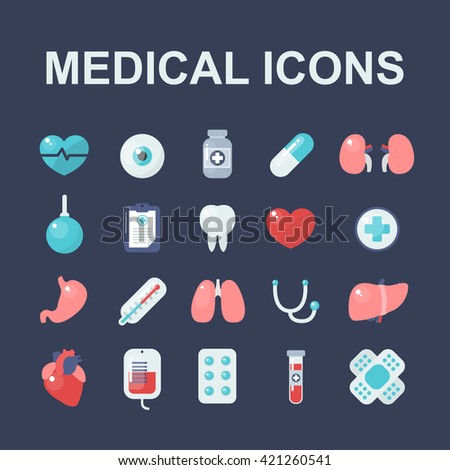 medical icons set. vector illustration