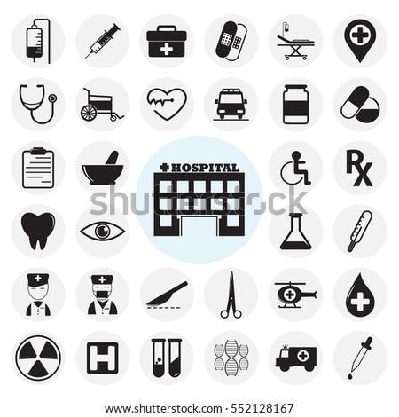 Medical icons set.Vector illustration
