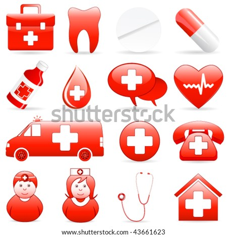 medical icons - vector illustration