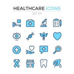 Medical icons. Vector line icons set. Premium quality. Simple thin line design. Modern outline symbols, pictograms.