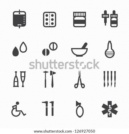 Medical Icons with White Background : NO.2