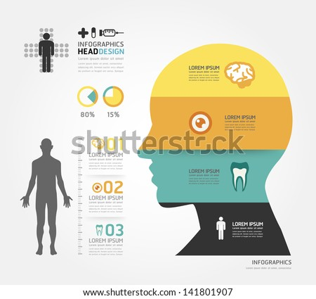Medical Infographic Design template / can be used for infographics / horizontal cutout lines / graphic or website layout vector