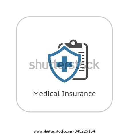 Medical Insurance Icon. Flat Design. Isolated Illustration.