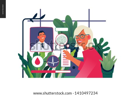 Medical insurance template -medical case manager -modern flat vector concept digital illustration of a manager reordering the medical procedures and diagnoses, process metaphor, medical insurance plan