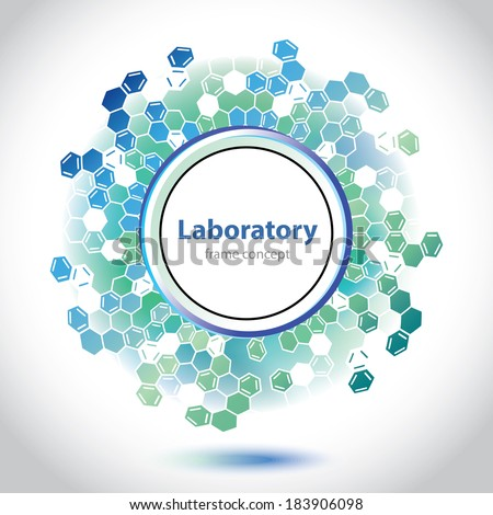 Medical laboratory circle element - Science and Research - laboratory facilities - Flat design - Web Banners - vector graphics - Abstract sea-green version