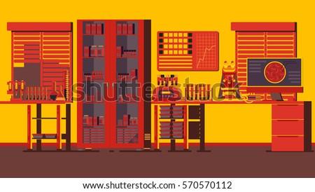 Medical Laboratory Illustration - Shutterstock ID 570570112