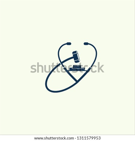 medical law logo , Law Care logo template, law firm logo, Attorney logo designs vector - vector