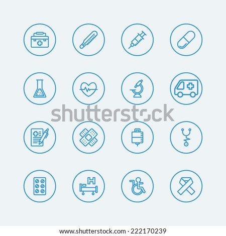 Medical line icons.Vector EPS10