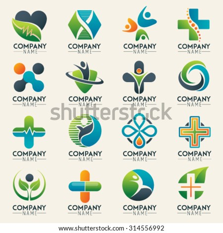 Vector Images Illustrations And Cliparts Medical Logo Icons Set