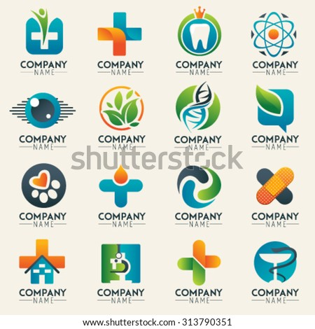 medical logo icons set icons for medicine healthcare