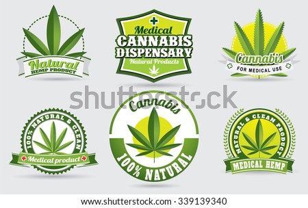 medical marijuana , cannabis logo graphics