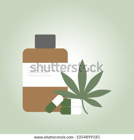 medical marijuana icons  pills