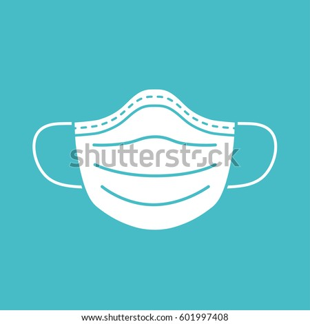medical mask vector icon
