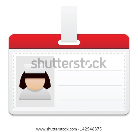 Medical personal badge with womans photo
