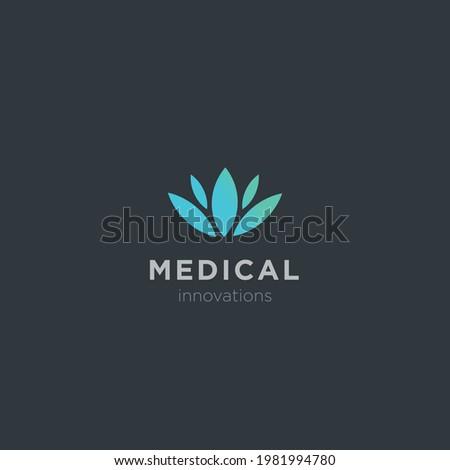Medical pharmacy and medical logo design template.Tıbbi ecza ve medikal logo tasarım şablonu. Stok fotoğraf ©