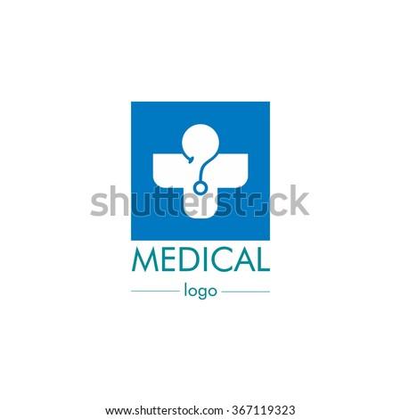 Medical pharmacy logo design template. Vector Illustration Medical center.