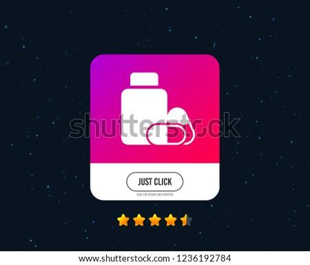 medical pills bottle sign icon