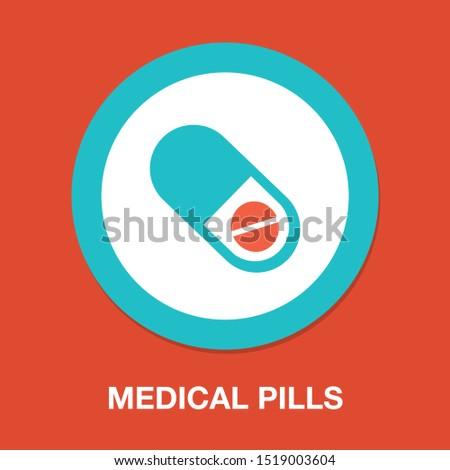 medical pills icon  medicine