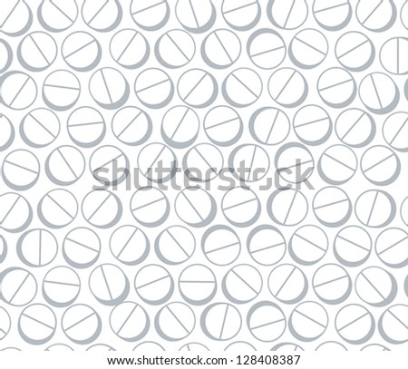 Medical pills seamless background, vector.