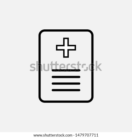 Medical Prescription Icon - Sign & Symbol Logo Vector.