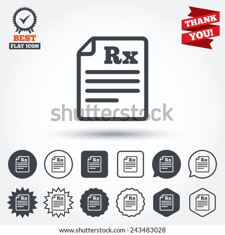 medical prescription rx sign