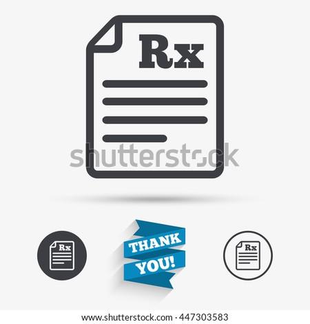 Vector Images Illustrations And Cliparts Medical Prescription Rx
