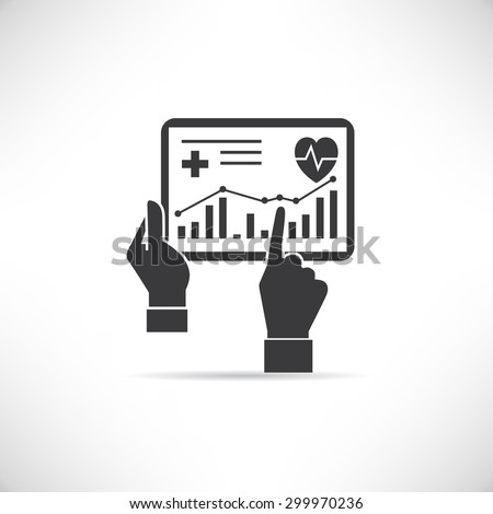 medical record in tablet, health data,