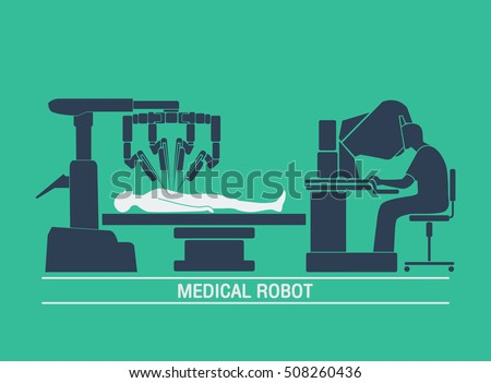 medical robot icon vector
