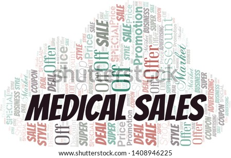 Medical Sales Word Cloud. Word cloud Made With Text.